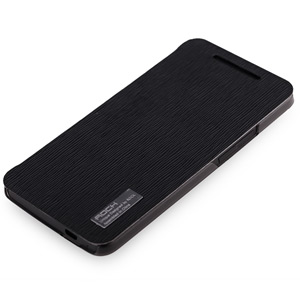 Rock Elegant Side Flip Case For HTC One - Black