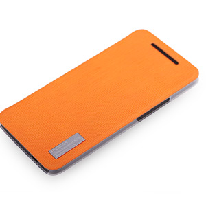 Rock Elegant Side Flip Case For HTC One - Orange