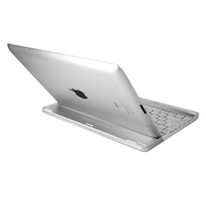 Aluminium Bluetooth Keyboard Stand For Apple iPad 4 / 3 / 2 - White