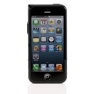 Coque iPhone 5 double couche avec objectif grand angle ? Noire / Noire