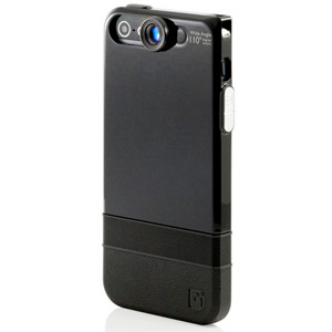iPhone 5 Double-Layer Case with Wide Angle Lens - Black/Black