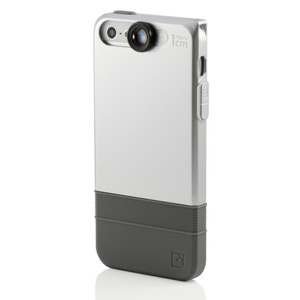 iPhone 5 Double-Layer Case with Macro Lens- Grey/Black