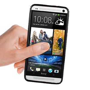 FlexiShield Wave Stand Case for HTC One 2013 - Clear / Black