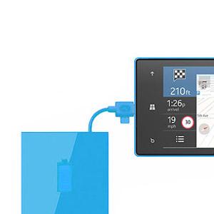 Nokia Universal Portable Micro USB Charger CR-18 - Cyan