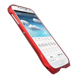Draco Design Aluminium Airborne Bumper for Samsung Galaxy S4 - Red