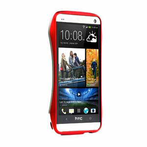 Draco Design Aluminium Bumper for HTC One 2013 - Flare Red