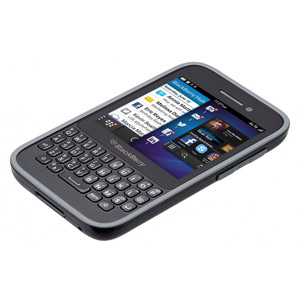 BlackBerry Q5 Premium Shell - ACC54809-201 - Black/Granite Grey
