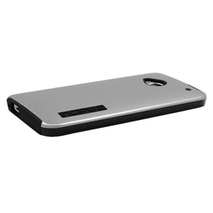Incipio DualPro Shine Case for HTC One - Silver / Black