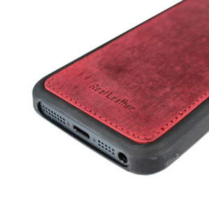Urbano Genuine Leather Slim Case for iPhone 5 - Burgundy Vintage