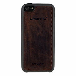 Urbano Genuine Leather Slim Case for iPhone 5 - Chocolate Vintage