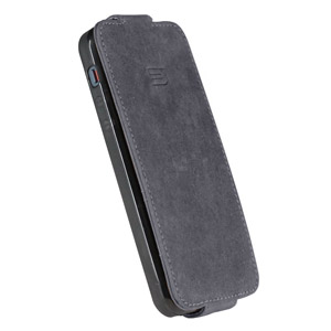 Urbano Genuine Leather Flip Case for iPhone 5 - Vintage Grey