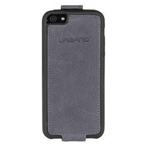 Urbano Genuine Leather Flip Case for iPhone 5 - Grey Vintage