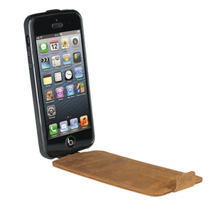 Urbano Genuine Leather Flip Case for iPhone 5 - Vintage