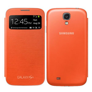 Genuine Samsung Galaxy S4 S View Cover - Orange