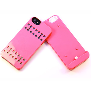 Boostcase Hybrid Snap Case with 1500Mah Battery for iPhone 5 - Coral