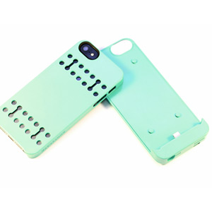 Boostcase Hybrid Snap Case with 1500Mah Battery for iPhone 5 - Mint