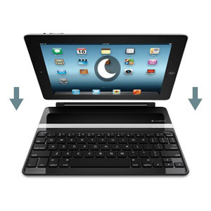Logitech Ultra-Thin Keyboard Cover for iPad 4 / 3 / 2 - Silver / Black