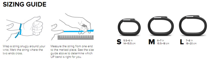jawbone up activity tracking wristband light grey medium rh mobilefun com Jawbone Up Review Jawbone Up Sizing PDF