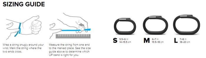 Bracelet Fitness Jawbone UP24 Bluetooth – Onyx – Large