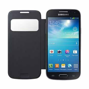 Official Samsung Galaxy S4 Mini S-View Premium Cover Case - Black