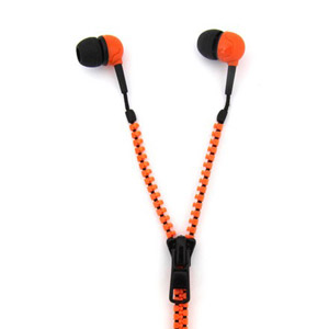 Zippit 3.5mm Anti-Tangle Earphones - Orange