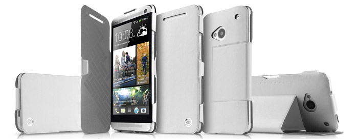 ITSKINS Plume Flip Case for HTC One 2013 - White