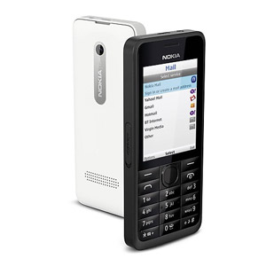 Sim Free Nokia Asha 301 - Black