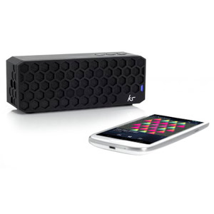 Kitsound Hive Bluetooth Wireless Portable Stereo Speaker - Black