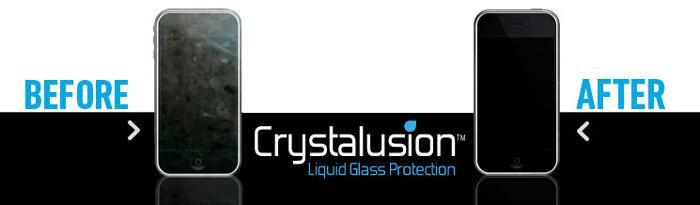 Protection d'écran en Verre Liquide Crystalusion