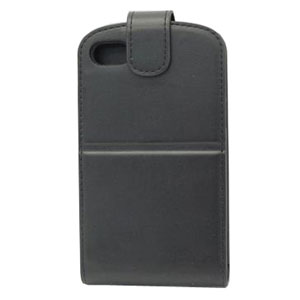 Capdase Leather Flip Case for Blackberry Q10 - Black