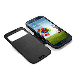 Housse Samsung Galaxy S4 Spigen Slim Armor View - Noire