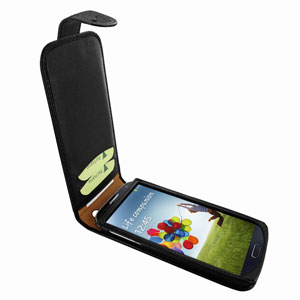 Piel Frama Snap Ostrich For Samsung Galaxy S4 - Black