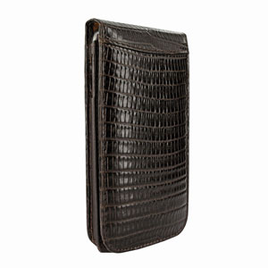 Piel Frama Snap Lizard For Samsung Galaxy S4 - Brown