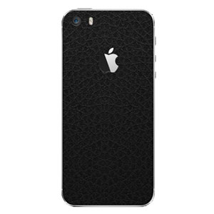 dbrand Textured Back and Frame Cover Skin for iPhone 5 - Black Leather