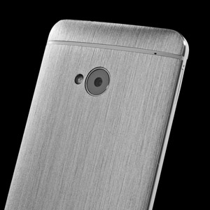 dbrand Textured Front and Back Cover Skin for HTC One 2013 - Titanium