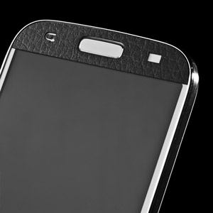 dbrand Textured Cover Skin for Galaxy S4 - Black Leather
