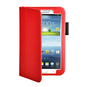 Adarga Folio Stand Samsung Galaxy Tab 3 7.0 Case - Red