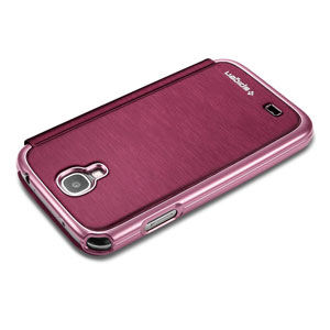 Spigen Galaxy S4 Ultra Flip View Case - Metallic Red