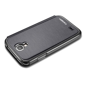 Spigen Galaxy S4 Ultra Flip View Case - Metallic Black