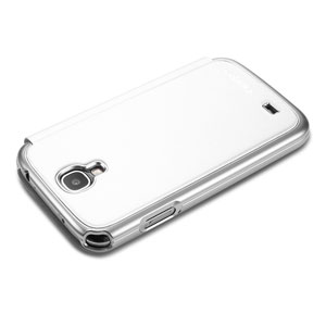 Spigen Galaxy S4 Ultra Flip View Case - Metallic White