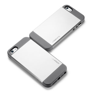 Slim Armor View Case for iPhone 5 - Satin silver