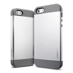 Slim Armor Case for iPhone 5 - Satin Silver