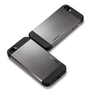 Slim Armor View Case for iPhone 5 - Gun Metal