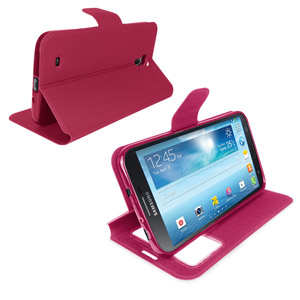 Sonivo Sneak Peek Flip Case for Samsung Galaxy Mega 6.3 - Pink