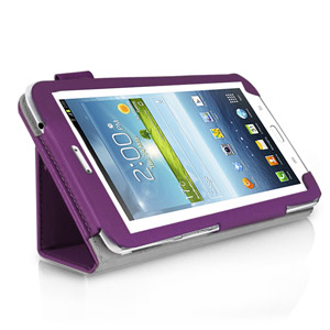 SD Stand and Type Case for Samsung Galaxy Tab 3 8.0 - Purple