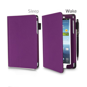 SD srand and Type Case for Samsung Galaxy Tab 3 8.0 - Purple