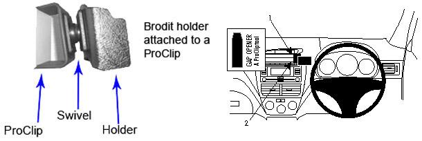 Brodit ProClip Angled Mount - Subaru Impreza 08-12
