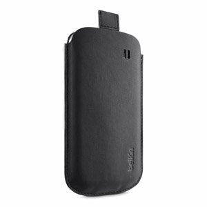 Belkin F8M638 Leather Style Pouch for Samsung Galaxy S4 Mini - Black
