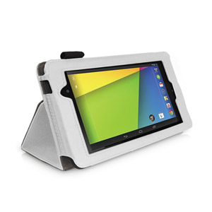 Sonivo Leather Style Case for Google Nexus 7 2 - White