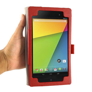 Sonivo Leather Style Case for Google Nexus 7 2 - Red